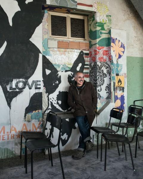 MAAM - Ludoteca. Ritratto dell'ideatore e direttore artistico del Maam, l'antropologo, artista e filmaker Giorgio De Finis - photo Giuliano Ottaviani