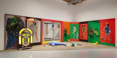Martial Raysse, Raysse Beach, 1962 - Centre Pompidou, Parigi - - veduta della mostra a Palazzo Grassi, Venezia 2015 - photo © Fulvio Orsenigo