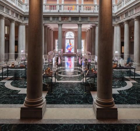 Martial Raysse - veduta della mostra a Palazzo Grassi, Venezia 2015 - photo © Fulvio Orsenigo