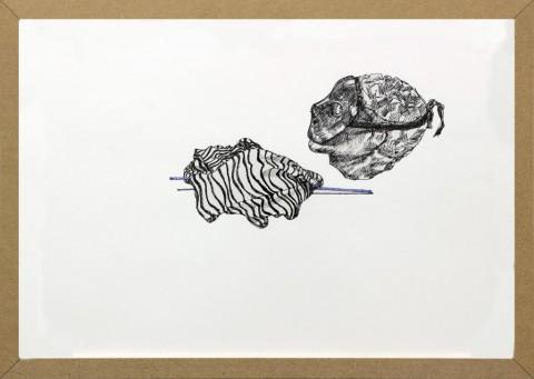 Matteo Fato, (Olio su Scala), 2011-2014, china su carta