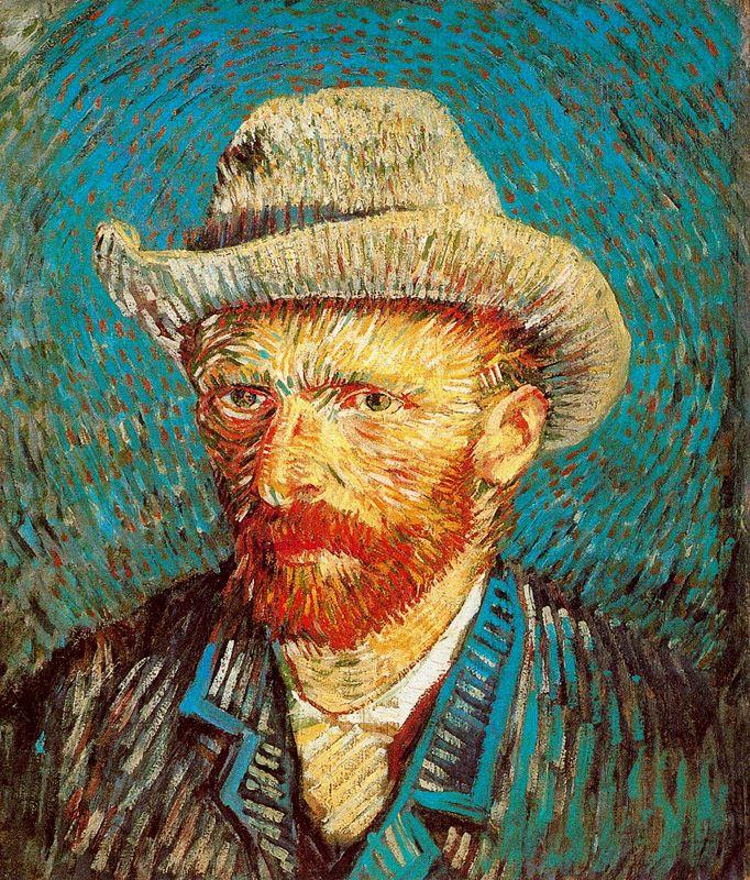 Vincent Van Gogh, Autoritratto con cappello di feltro, 1887, olio su tela