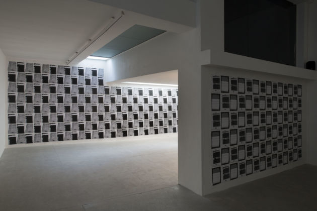 William E. Jones - veduta della mostra presso la Galleria Raffaella Cortese, Milano 2015 - photo Lorenzo Palmieri