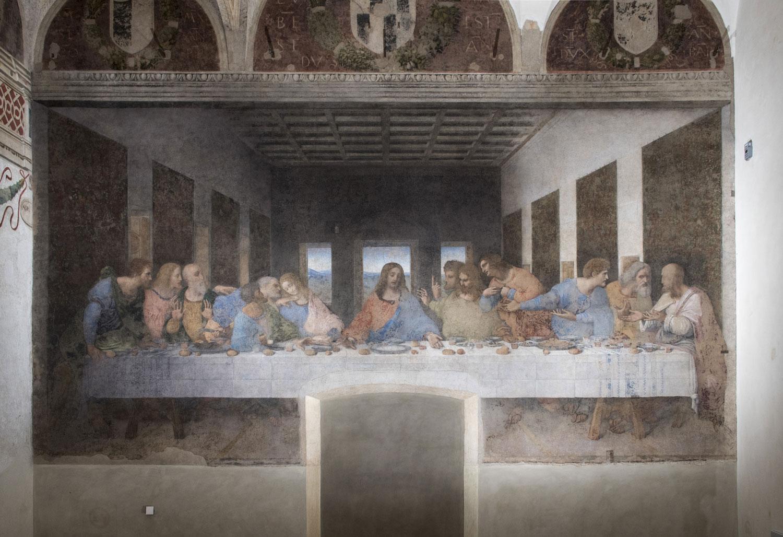 Leonardo da vinci ultima cena 1494 98 refettorio della chiesa di santa