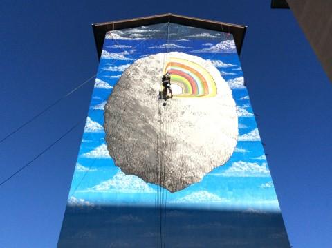 Blu, il murale per Draw the Line 2015, a Campobasso