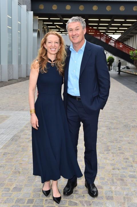 David Zwirner e Monica Zwirner alla Fondazione Prada (foto Stefania D'Alessandro Getty Images per Fondazione Prada)