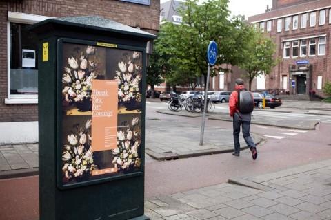 Eva Frapiccini, Thank you for coming!, 2011, uno dei poster per la citta di Rotterdam