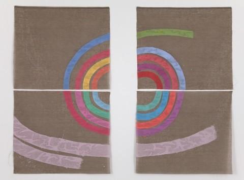 Giorgio Griffa, Quasi una spirale, 2008 - courtesy of the artist and Casey Kaplan, New York - photo Jean Vong