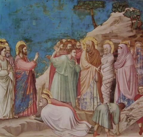 Giotto, La resurrezione di Lazzaro, 1303-05 ca. - Cappella degli Scrovegni, Padova