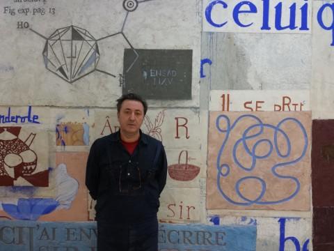 Giuseppe Caccavale nella sua aula-atelier, ENSAD, Parigi, 2015