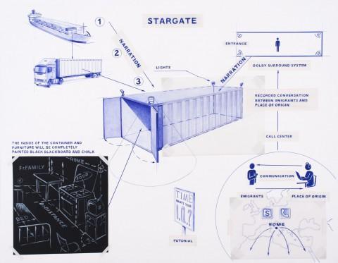Giuseppe Stampone, Stargate, Prometeogallery