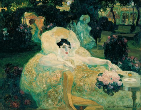 Hermen Anglada Camarasa, Il pavone bianco, 1904 - Colección Carmen Thyssen-Bornemisza