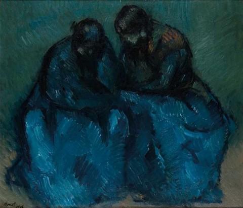 Isidre Nonell, Due gitane, 1906 - Barcellona, Colección El Conventet