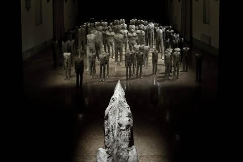 Magdalena Abakanowicz – Crowd and Individual - veduta della mostra presso la Fondazione Cini, Venezia 2015 - photo Alessandra Chemollo