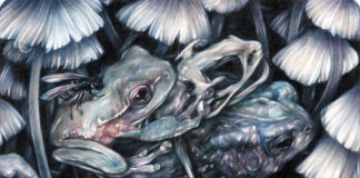Marco Mazzoni, The Unaware, 2015 - matite colorate e inchiostro su carta moleskine, cm 14x18