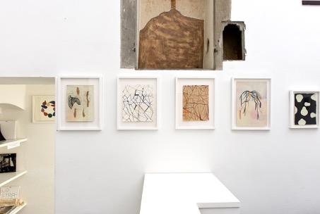 Maurizio Donzelli – Diramante - veduta della mostra presso la Galleria Eduardo Secci, Firenze 2015 - acquerelli