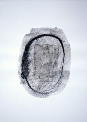 Roberto Almagno, Senza Titolo, 2009, cm. 42×30 c- arbone, polvere di carbon fossile, acqua e cenere su carta - foto di Alessandro Cardinali