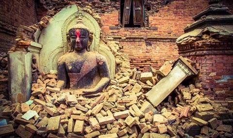 Scultura di Buddha (Bhaktapur 2015) - dopo