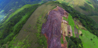 Sonia Falcone & José Laura Yapita, Aerial view of the archeological complex, known as the Fortress of Samaipata..., Santa Cruz 2014 - photo Sonia Falcone - Courtesy of the Latin American Pavilion - IILA