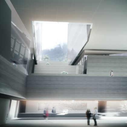 Thom Mayne, 7132 - Vals - courtesy of Morphosis Architects - hall