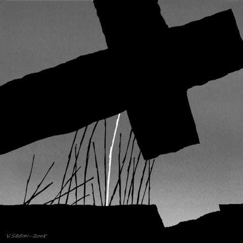 Vittorio Sedini, Via Crucis - Gesù caricato della Croce, 2008