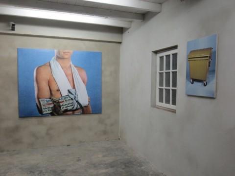 Adalberto Abbate, ITALIENISCHE REISE, 2015, collage digitali stampati su pvc, GartenPavillon in Malkasten, Dusseldorf