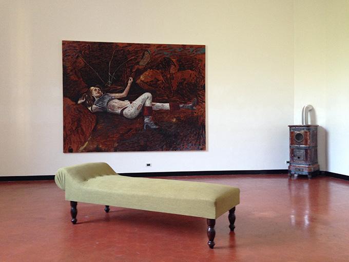 Andrea Salvino – Troppo presto troppo tardi - veduta della mostra presso lo Studio SALES, Roma