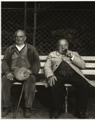 August Sander, German, 1876–1964 Blind Miner and Blind Soldier, c. 1930 from People of the 20th Century: Idiots, the Sick, the Insane and Dying Gelatin silver print, 10 3/16 × 7 3/8″(25.8 × 18.7 cm) The Museum of Modern Art, New York Acquired through the generosity of the Sander family