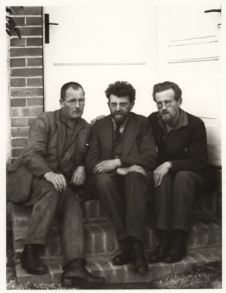 August Sander, German, 1876–1964 Revolutionaries [Alois Lindner, Erich Mühsam, Guido Kopp], 1929 from People of the 20th Century: Working Types–Physical and Intellectual Gelatin silver print, 10 3/16 × 7 3/8'' (25.8 × 18.7 cm) The Museum of Modern Art, New York Acquired through the generosity of the Sander family