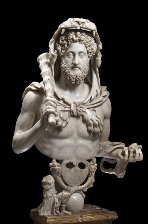 Busto di Commodo come Ercole, 192 d.C. - Musei Capitolini, Roma - © Foto di Zeno Colantoni