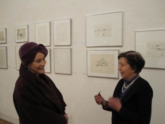 Carla Pellegrini con Lea Vergine