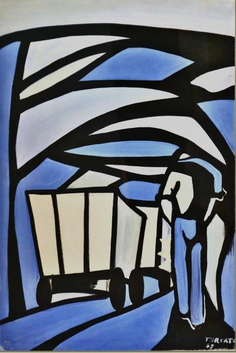 Giulio Turcato, Miniera, 1948 - Mantova (Suzzara), Galleria del Premio Suzzara