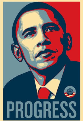 Obey, Barak Obama - Progress