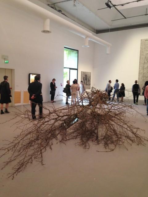 Robert Smithson, Dead tree, 1969 - 56. Biennale di Venezia - photo Valentina Grandini