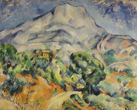 Paul Cezanne - Paysage Provencal, 1900-1904, matita e acquerello su carta