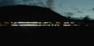 Doug Aitken's LED train artwork in Station to Station