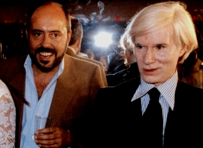 Elio Fiorucci assieme a Andy Warhol