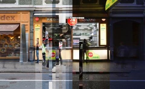 Giovanni Scotti, The Morning is Salty - A day in the life in Ljubljana _ Nobel kebap & burek non-stop 24h, 2012