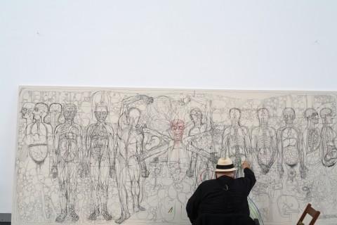 Hermann Nitsch a Palermo - Zac - 2015 - foto Alessandro Di Gugno