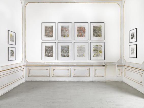 Ida Tursic & Wilfried Mille - Pasta al nero di seppia – veduta della mostra presso la Galleria Alfonso Artiaco, Napoli 2015