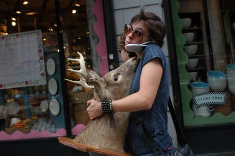 Jo-Anne McArthur, Woman With Deer Head, USA 2005