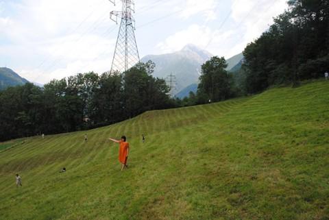 Lavori in corso per Case Sparse - Tra l'etere e la terra, Malonno (Brescia), 2015