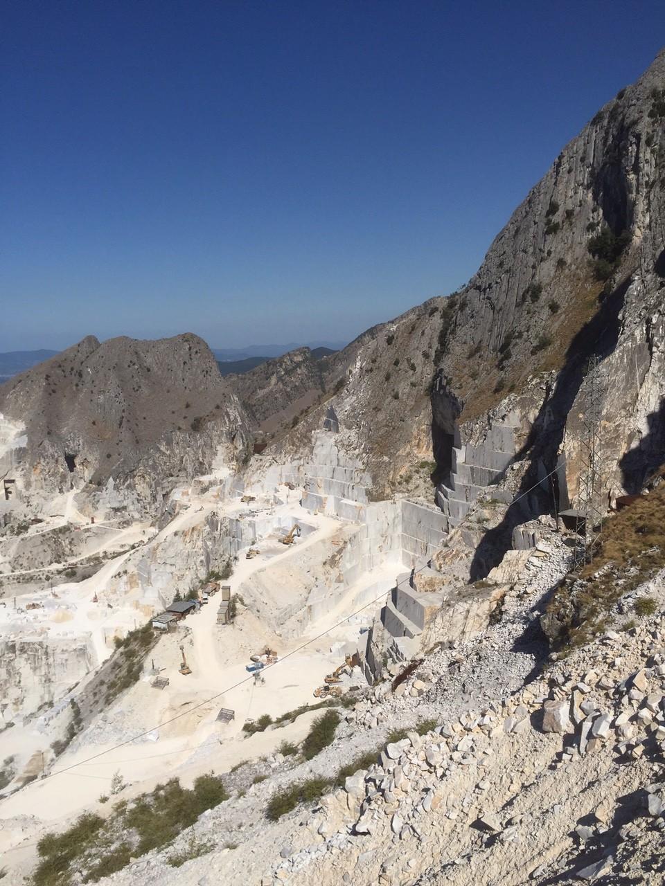 Le cave di marmo a Carrara