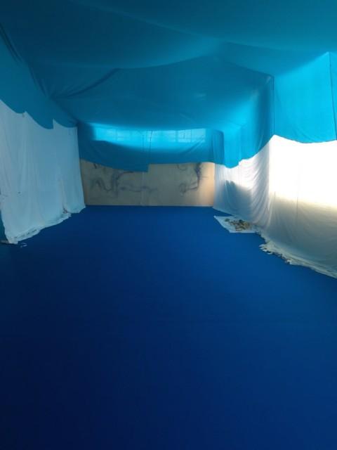 Reto Pulfer – Dehydrierte Landschaft - veduta della mostra presso il CAC, Ginevra 2015