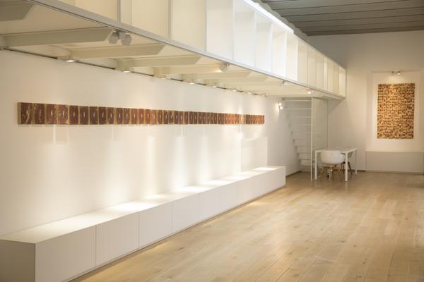 Silvia Celeste Calcagno – Interno 8. La fleur coupée - veduta della mostra presso le Officine Saffi, Milano 2015