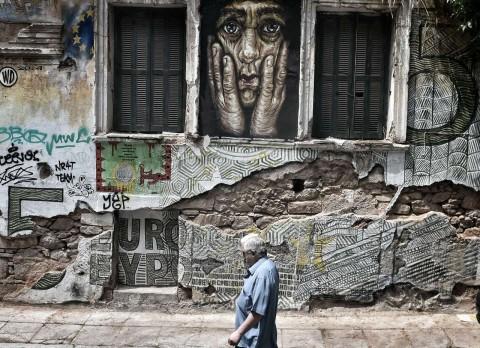 Un murale ad Atene