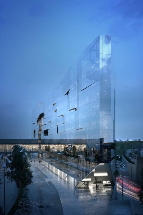 5+1AA, Nuova sede Gruppo Bnl - Bnp Paribas Real Estate, Roma - Vista Ovest