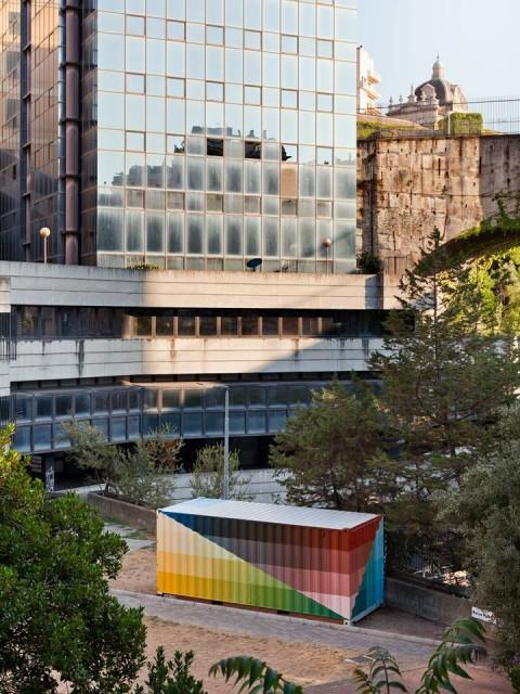 Alberonero, l'intervento per I Giardini di Plastica, Genova 2015 - foto Andrea Bosio