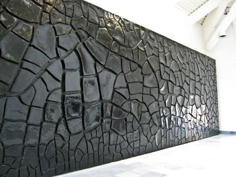 Alberto Burri, Grande Cretto Nero - Museo di Capodimonte, Napoli