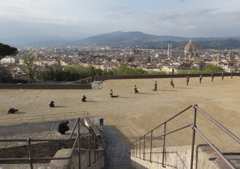 Antony Gormley, Human - Forte di Belvedere, Firenze 2015 - photo Antony Gormley - courtesy Galleria Continua & White Cube - © the Artist