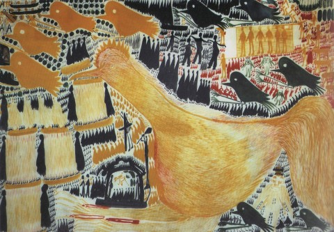 Carlo Zinelli, Grande gallo giallo, 1960